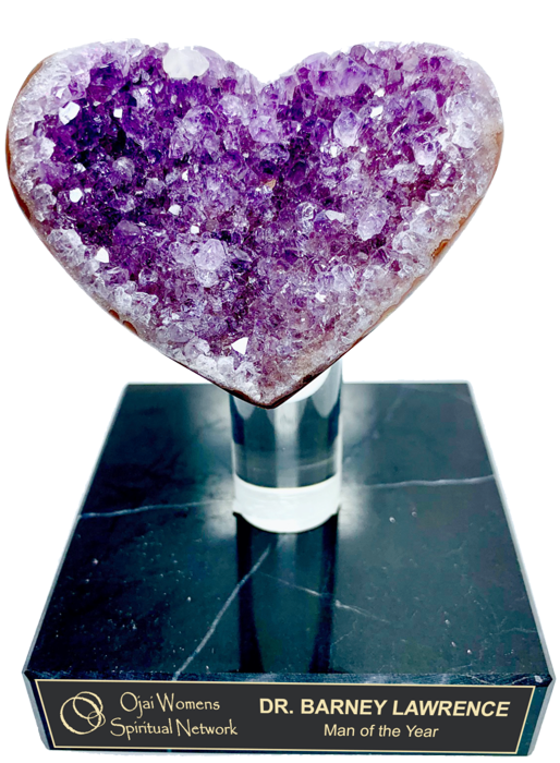 Purple Amethyst Heart Geode Trophy Award- 3