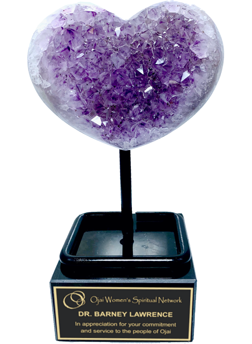 Purple Amethyst Heart Geode Trophy Award- 8-1/2