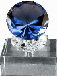 Diamond Crystal Ring Trophy Award (TWO SIZES)
