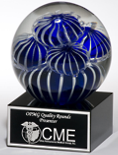 Blue Pillows Fashion Crystal Globe Trophy Award