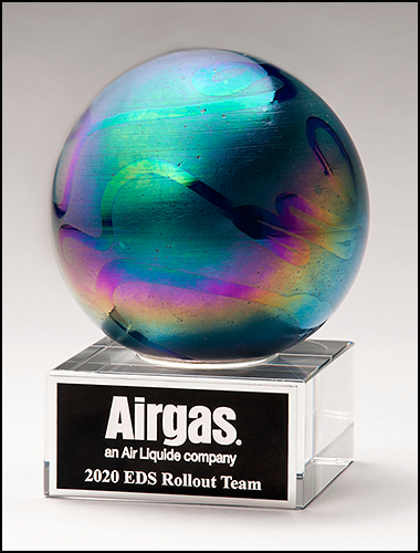 Color Crystal Metallic Ball Trophy Award