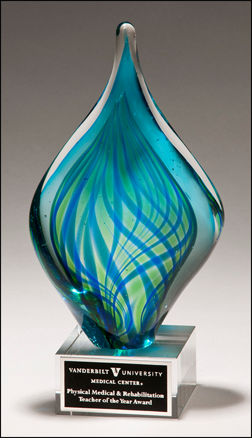 Color Crystal Sea Diamond Trophy Award