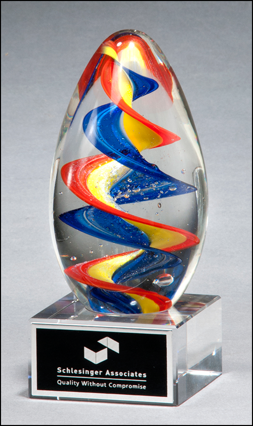 Color Crystal Ribbon Slide Trophy Award