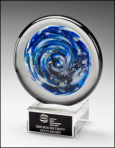 Color Crystal Starview Disc Trophy Award