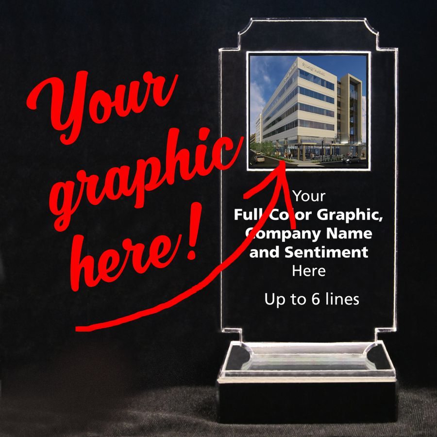 Retro Acrylic Trophy - Your Full-Color Graphic