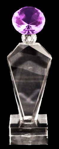 Deco Diamond Crystal Trophy Award (FOUR SIZES)