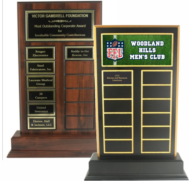 Standup Perpetual Plaque - Color or Engraved Metal Top Plate