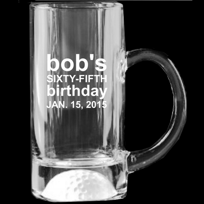 Fore! Glass Golf Mug Award - 13 oz.