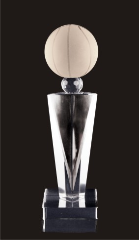 Elegante Basketball Crystal Trophy Award (FOUR SIZES)