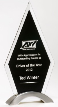 The Apex Glass  and Aluminum Trophy Award (THREE SIZES)