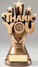 Thank You Stars Bronze Resin Trophy Award - 8-1/4