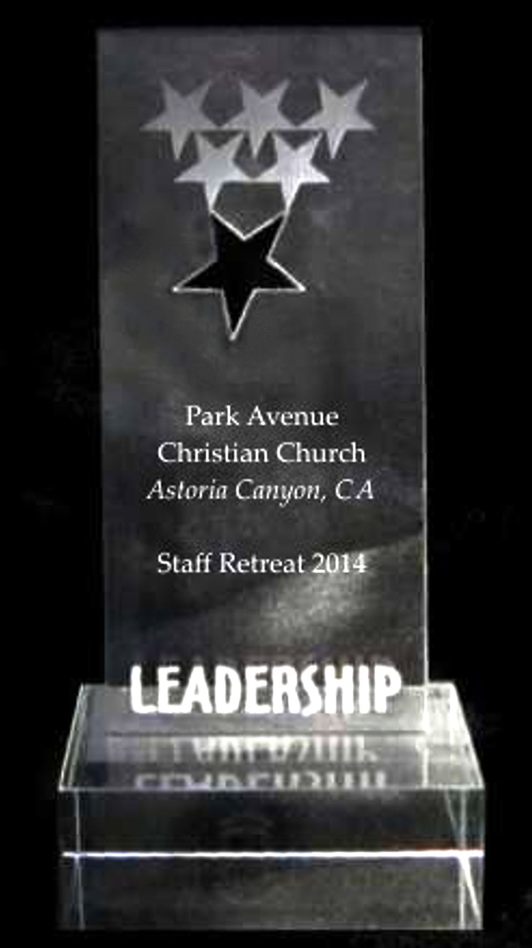 Acrylic Leadership Star Trophy Award
