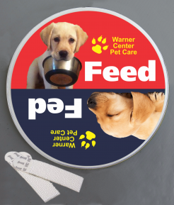 Feed the Dog Wallminder Sign - 4''