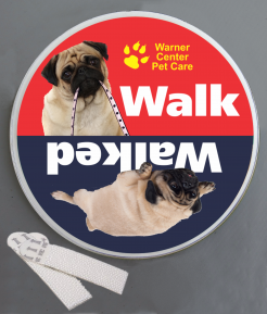 Walk the Dog Wallminder Sign - 4''