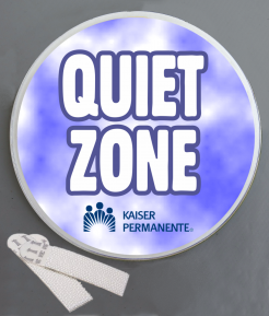 Quiet Zone Wallminder Sign - 4''