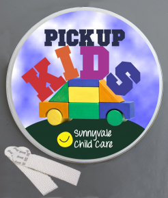 Pick Up The Kids Wallminder Sign - 4''