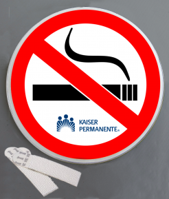 No Smoking Wallminder Sign - 4''
