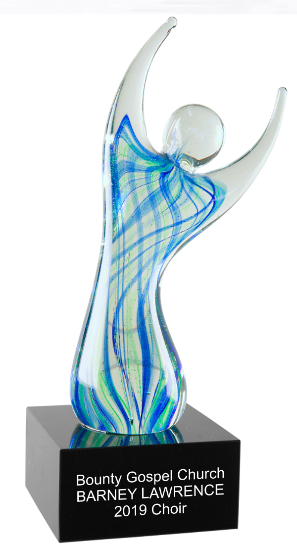 Color Crystal Angel Trophy Award