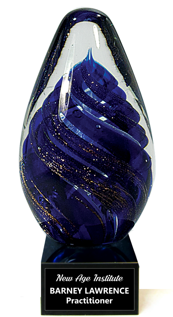 Blue Tornado Crystal Egg Trophy Award