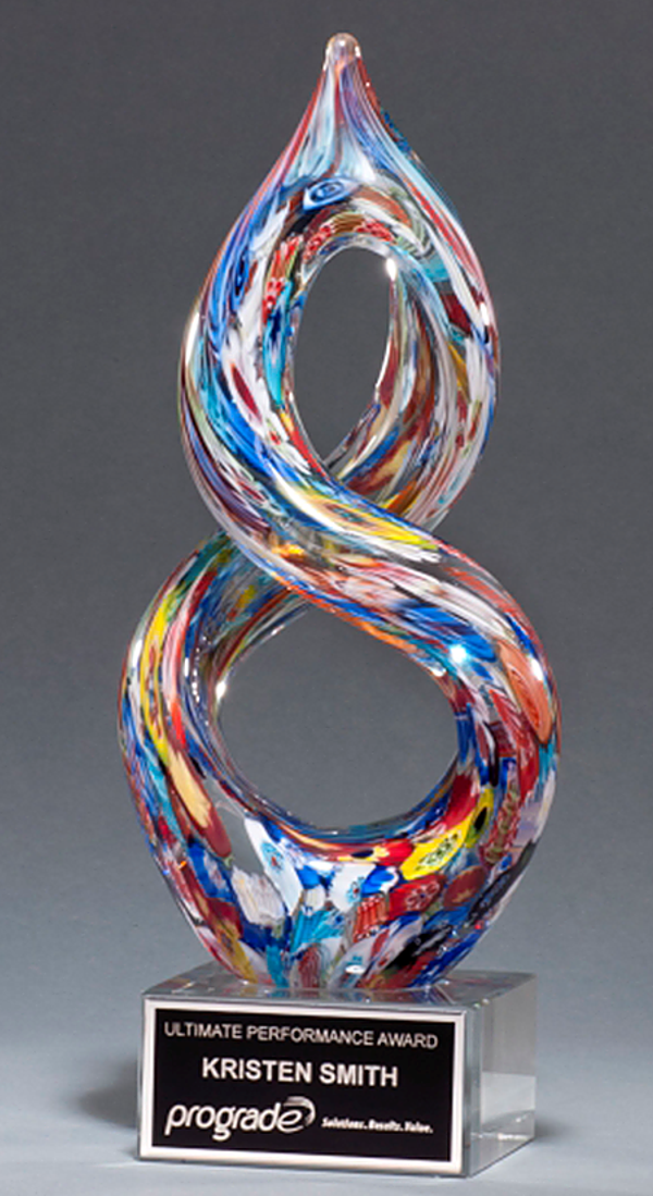 Potpourri Twist Color Crystal Trophy Award
