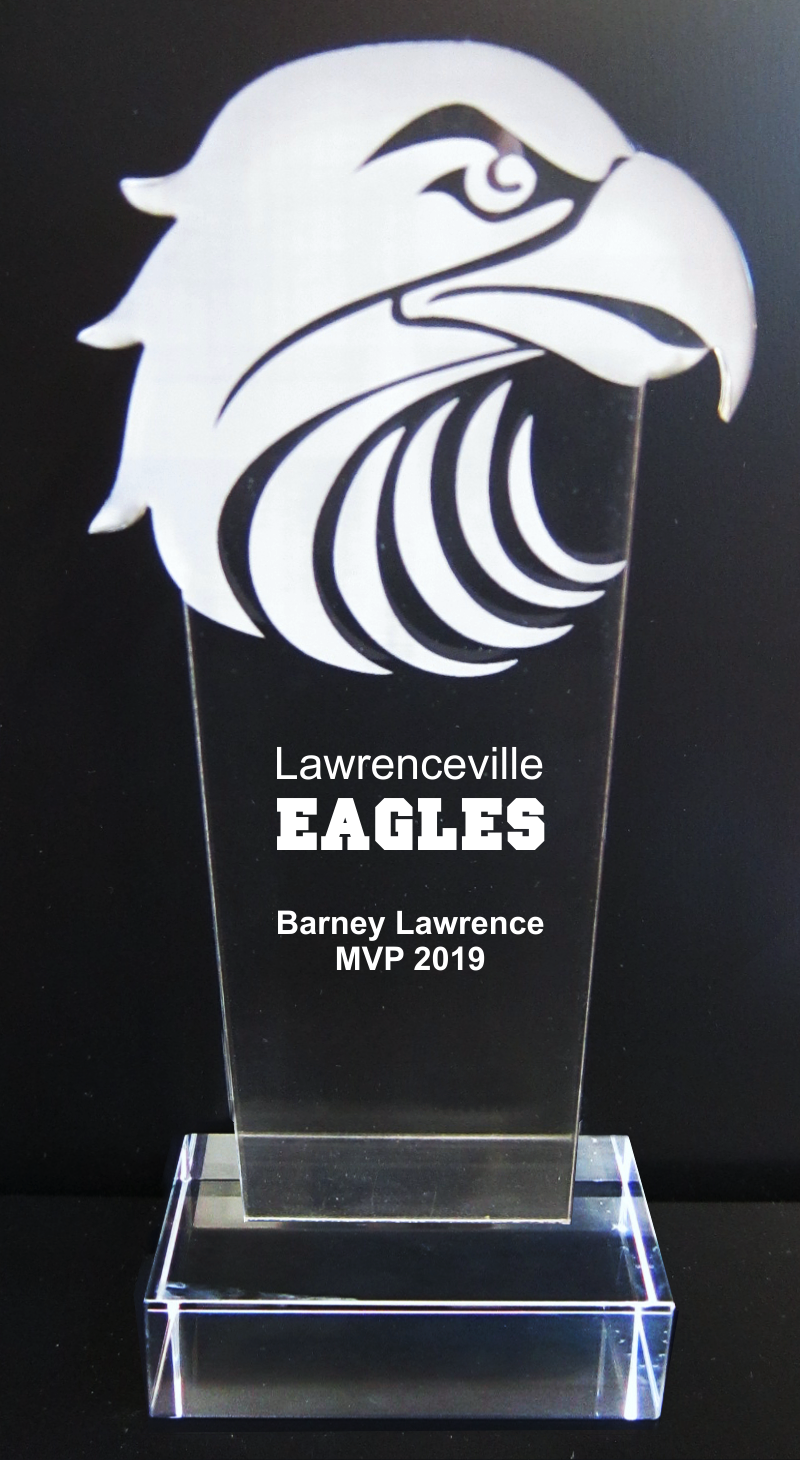 Eagle Mascot Acrylic Trophy Award - 9-1/2''