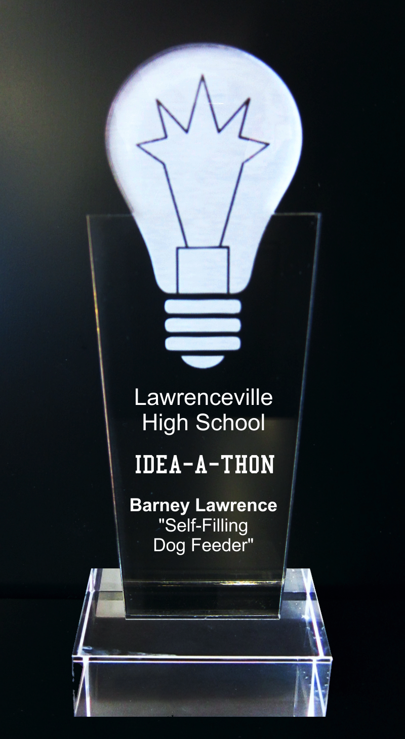 Light Bulb Acrylic Trophy Award - 9-1/2''