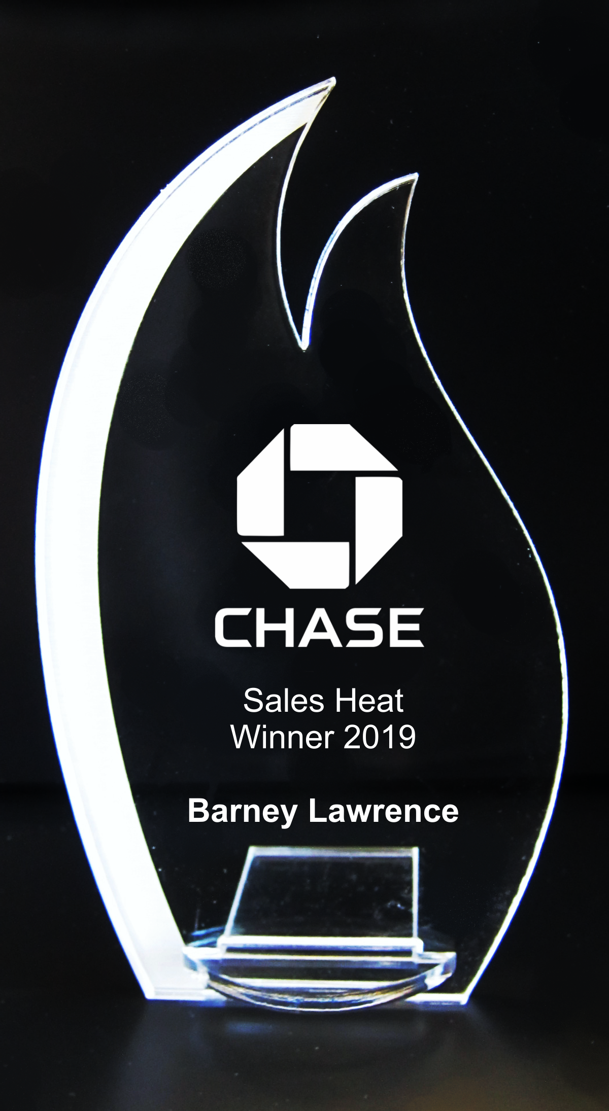 VALUE LINE Flame Acrylic Trophy Award