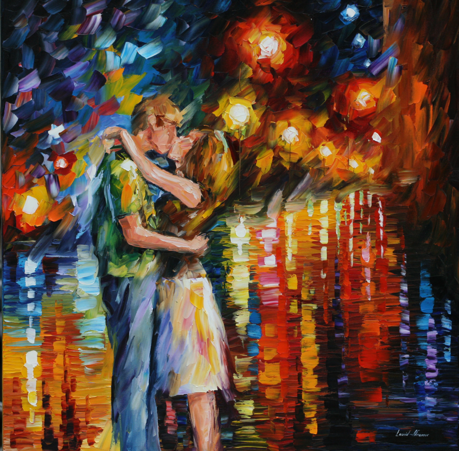Fireworks Kiss by Leonid Afremov