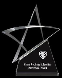 Modern Star Crystal Trophy Award (THREE SIZES)