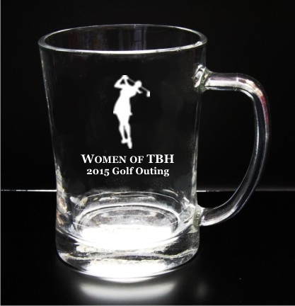 Big Glass Mug Engraved Award - 16 oz.