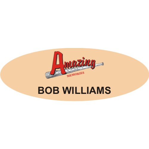 Acrylic Oval Full-Color Name Badges - 1.25