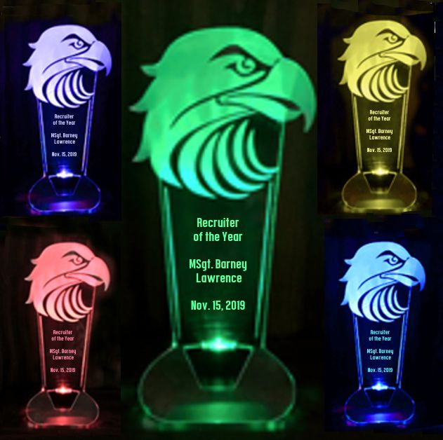 LED Light-up Trophy - 9''