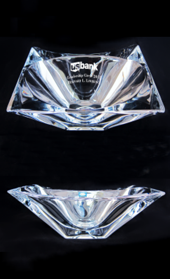 Origami Crystal Bowl - 11''  Wide