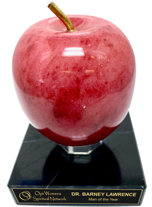 Rosestone Apple Onyx Trophy Award - 3-1/2