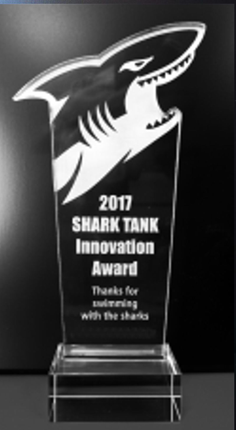 Shark Mascot Acrylic Trophy Award- 9-1/2''