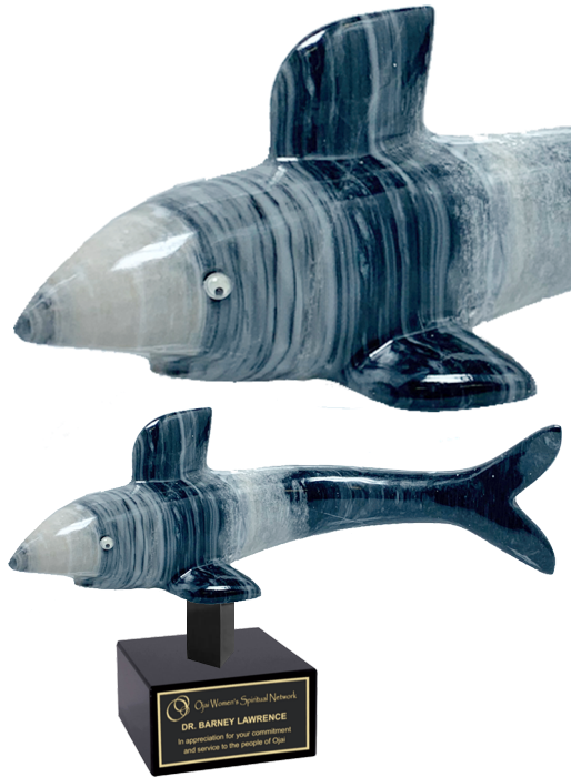 Grey Onyx Shark Trophy Award - 8