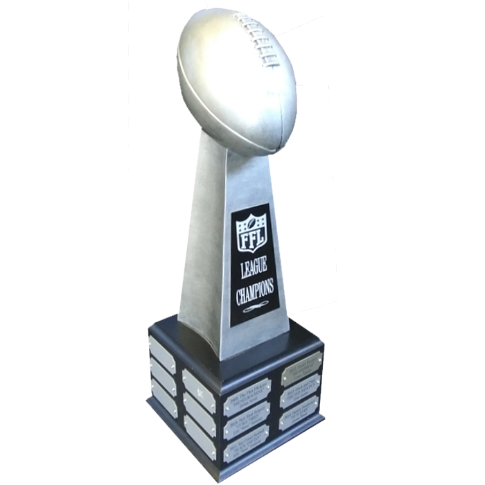 Silver Resin Football Tower Trophy Award - 18