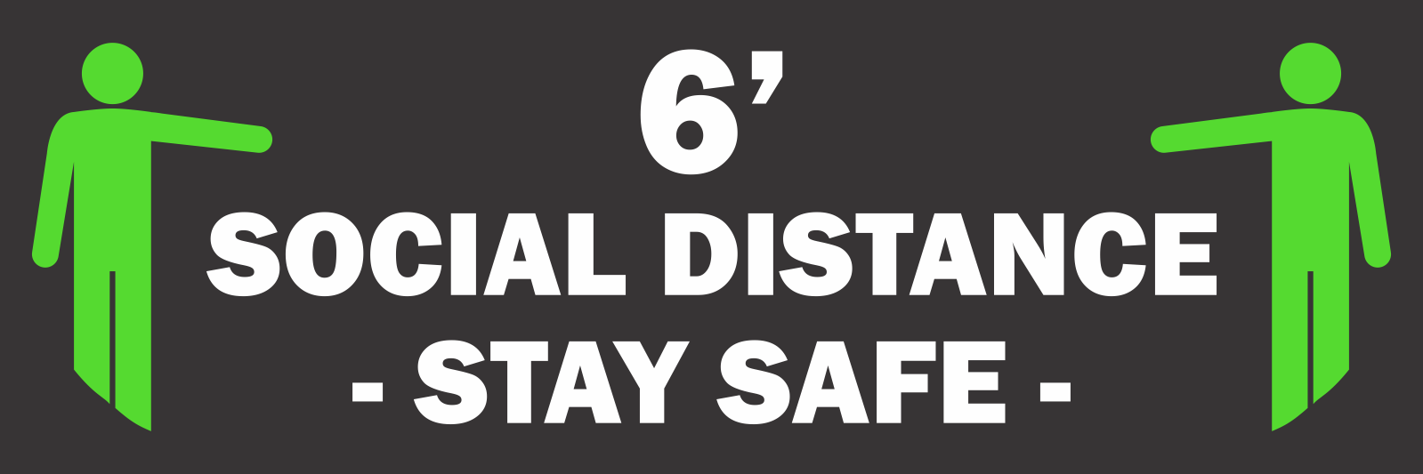 Social Distance Floor Sticker - Stay Safe