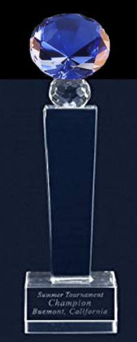 Tower Diamond Crystal Trophy Award (FOUR SIZES)