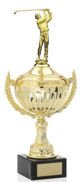 Victory Gold Metal Cup Trophy with Figurine (THREE SIZES)