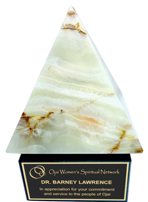 White Onyx Pyramid Trophy Award - 5-1/2