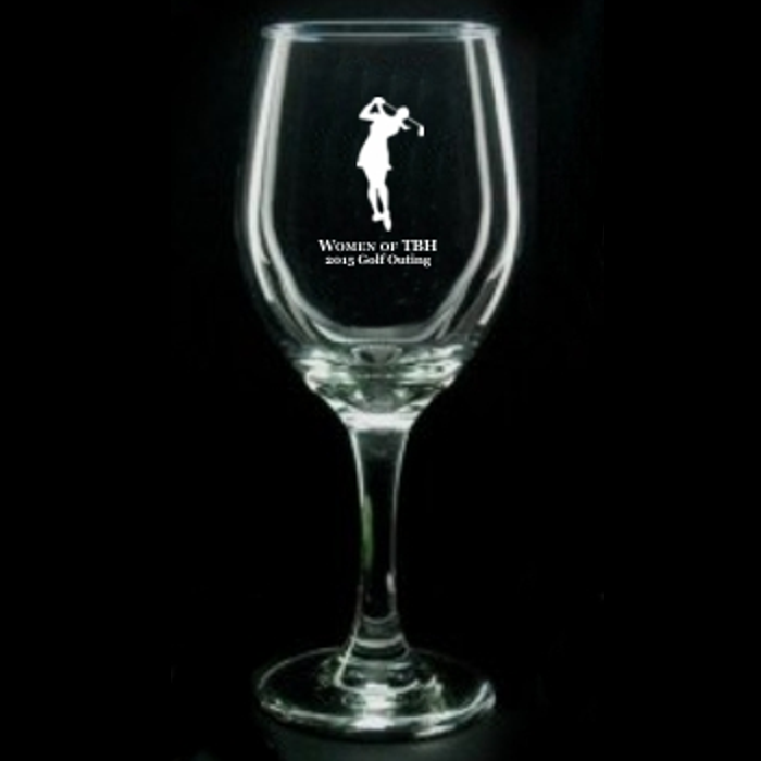 Engraved Wine Glass Award - 11 oz.