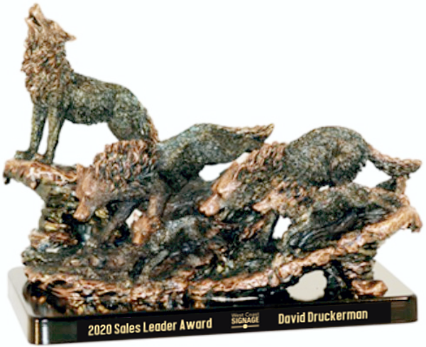 Bronze Wolf Pack Trophy Award - 12