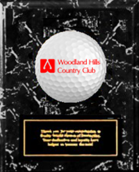 Black Marble Finish Plaque - Acrylic Logo & Metal Plate (FOUR SIZES)