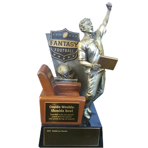 Bronze Fantasy Football Armchair Player Trophy Award - 13