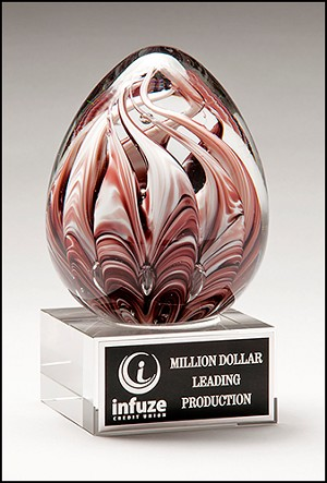 Color Crystal Swan Egg Trophy Award