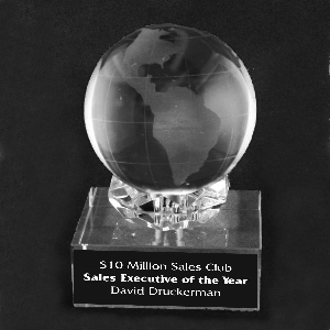Crystal Globe Ring Trophy Award (TWO SIZES)