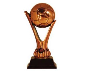 Large Copper Soccer Ball Trophy Award - 12''