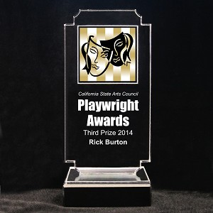 Retro Drama Acrylic Full-Color Trophy - Comedy and Tragedy