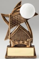 Volleyball Star Bronze Resin Trophy Award - 6''